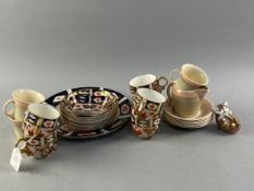 A ROYAL CROWN DERBY IMARI COFFEE SERVICE ALONG WITH A PART SUSIE COOPER TEA SERVICE