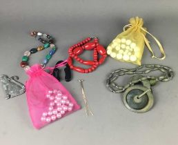 A LARGE COLLECTION OF COSTUME AND OTHER JEWELLERY