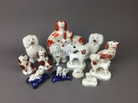 A LOT OF STAFFORDSHIRE DOG FIGURES