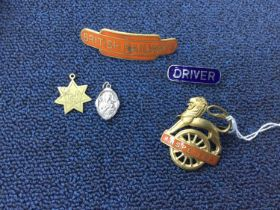 A SMALL GROUP OF RAILWAYS BADGES