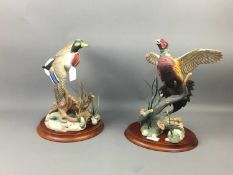 A LOT OF TWO FRANKLIN MINT GAME BIRD CERAMIC FIGURES