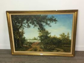 COUNTRY PATH, AN OIL BY WILLIAM POWELL AND TWO OTHER PICTURES