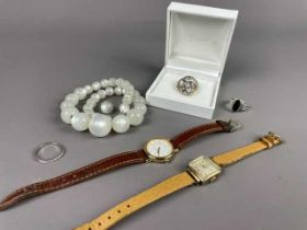 A LOT OF COSTUME JEWELLERY AND WATCHES