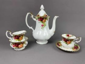 A ROYAL ALBERT OLD COUNTRY ROSES COFFEE SET
