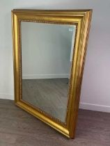 A LARGE GILT MIRROR BY GALLERY