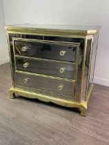 A MIRRORED CHEST BY COACH HOUSE FURNITURE