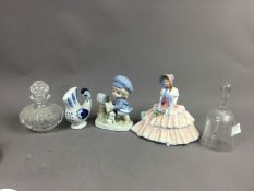 A PAIR OF DUTCH ROEMER STYLE HOCK GLASSES AND OTHERS