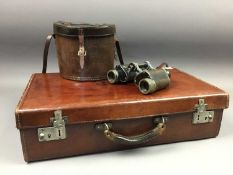 A CASED PAIR OF CARL ZEISS BINOCULARS AND OTHER OBJECTS