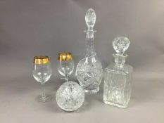 A LOT OF CRYSTAL AND GLASS WARE