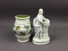 A VICTORIAN IMARI PATTERN MOUSTACHE CUP AND OTHER CERAMICS