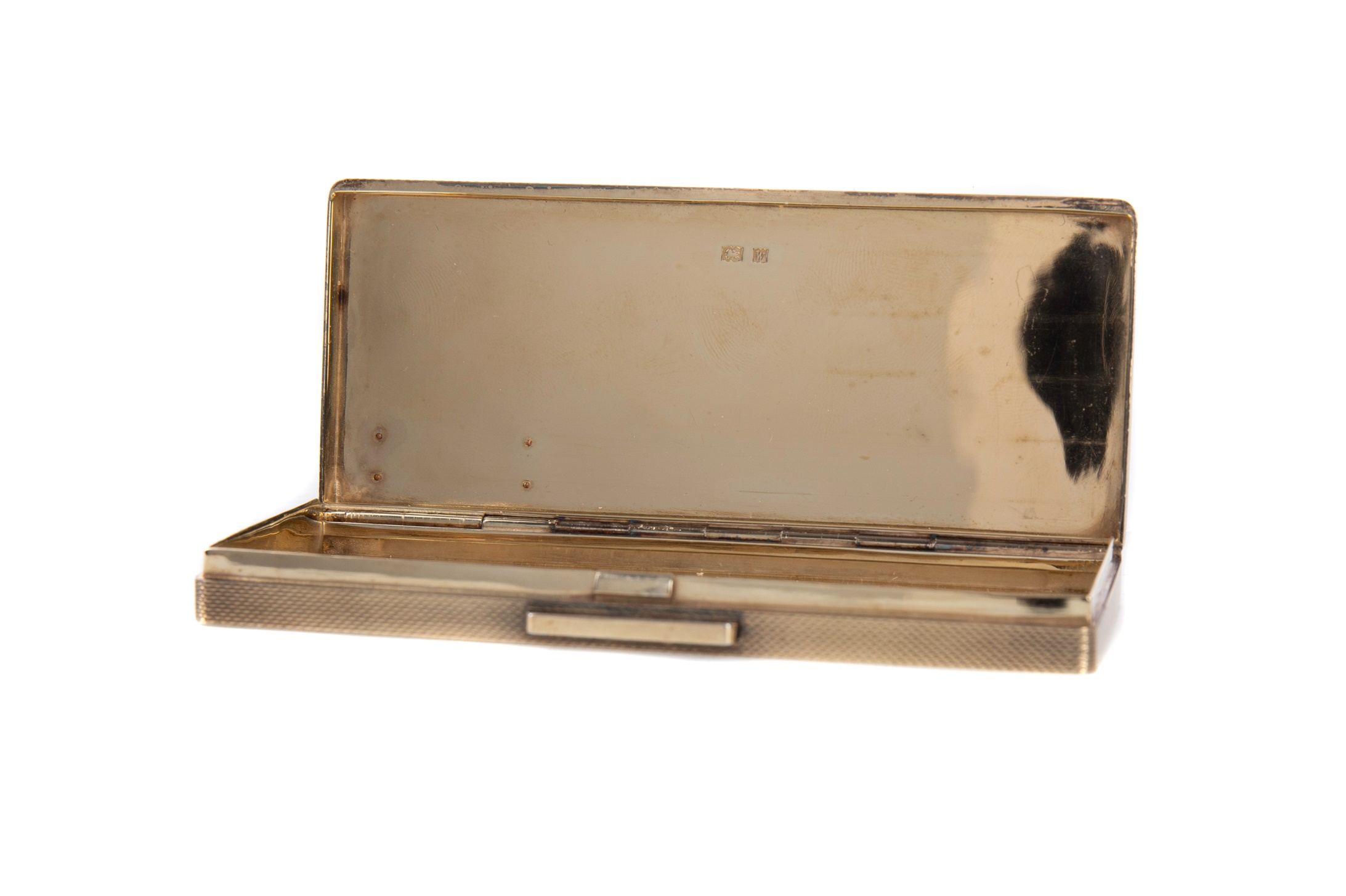AN ELIZABETH II SILVER GILT CIGARETTE CASE BY DUNHILL - Image 2 of 2