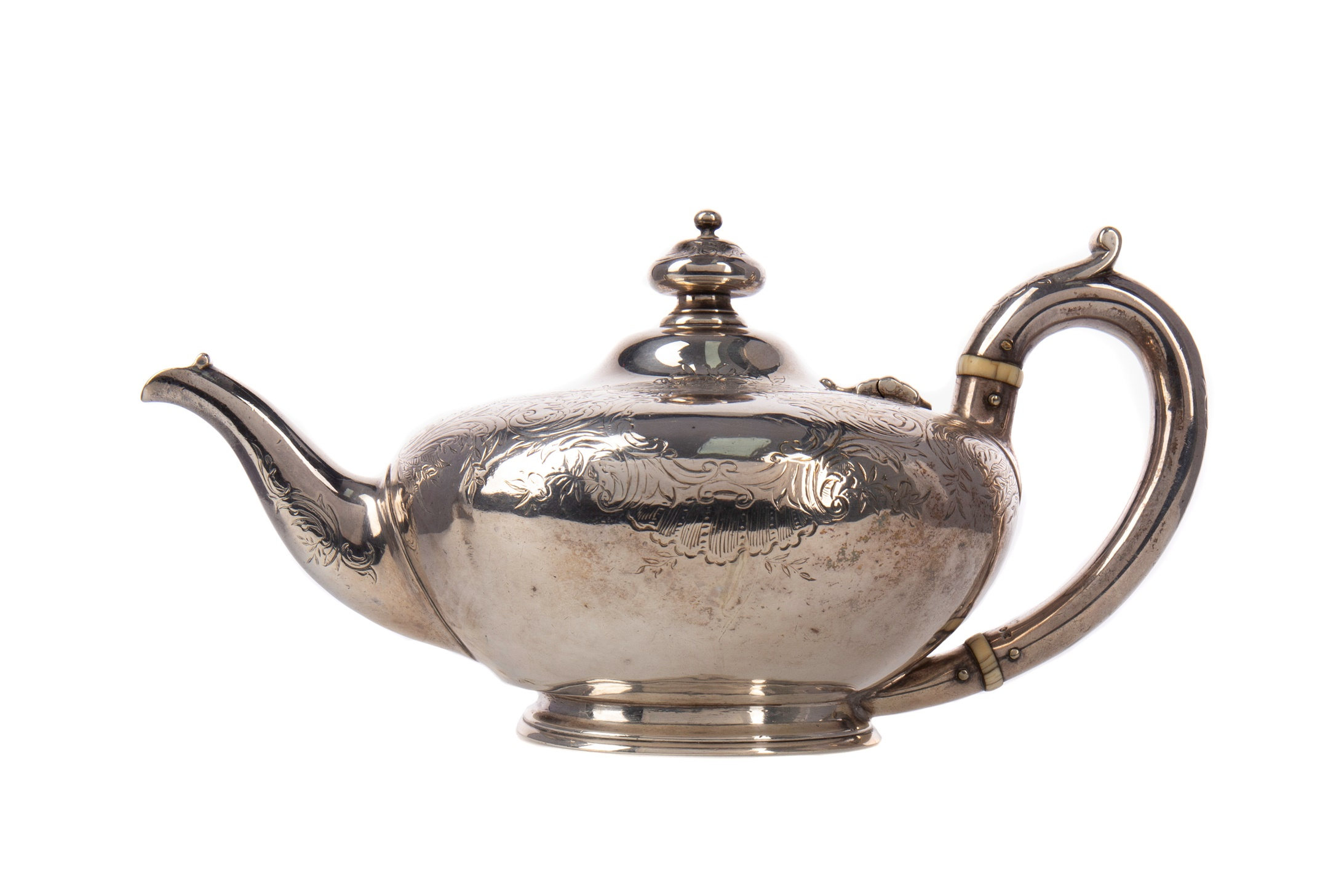 A VICTORIAN SILVER AFTERNOON TEAPOT