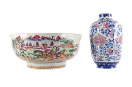 AN EARLY 20TH CENTURY CHINESE VASE AND A BOWL
