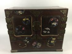 AN EARLY 20TH CENTURY CHINESE LACQUERED TABLE CABINET