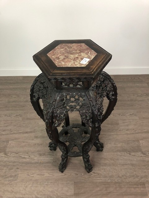 A CHINESE IRONWOOD PLANT TABLE - Image 2 of 2