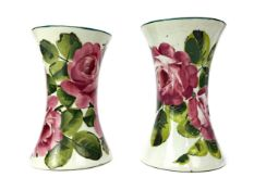 A LOT OF TWO WEMYSS WARE 'CABBAGE ROSE' PATTERN VASES