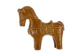 A CERAMIC HORSE BY ALDO LONDI FOR BITOSSI