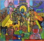 THE ENTRY OF CHRIST INTO DISNEYWORLD, AN OIL BY STEVEN MCCOWAN