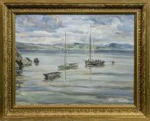 HIGH TIDE AT CRAMOND, AN OIL BY T G MCGILL DUNCAN