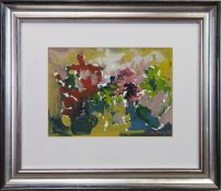 MIXED FLOWERS, A GOUACHE BY KATIE STEWART BROWN