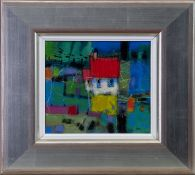 BLUE VIEW, A MIXED MEDIA BY FRANCIS BOAG