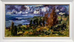 LOCH DUNVEGAN, AN OIL BY JOHN CUNNINGHAM