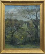 SUNDAY MORNING, OCTOBER, AN OIL BY WILLIAM BIRNIE