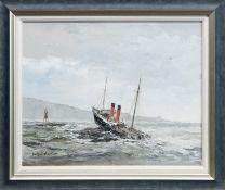 CLYDESDALE - RAN ONTO LADY ROCK IN THE SOUND OF MULL, AN OIL BY IAN ORCHARDSON