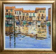 PORT OF MATIGUES, SOUTH FRANCE, AN OIL BY GEORGE DEVLIN