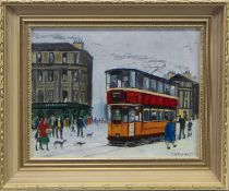 MINERVA STREET, AN OIL BY BETTY STIRLING