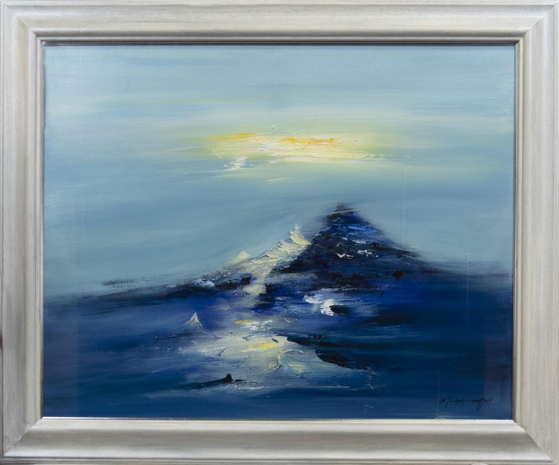 BLUE MOON, BARDOWIE, AN ACRYLIC BY BILL BLACKWOOD