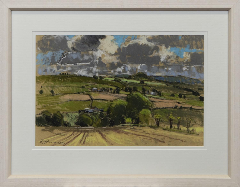 VALLEY FARMS, A PASTEL BY DOUGLAS LENNOX