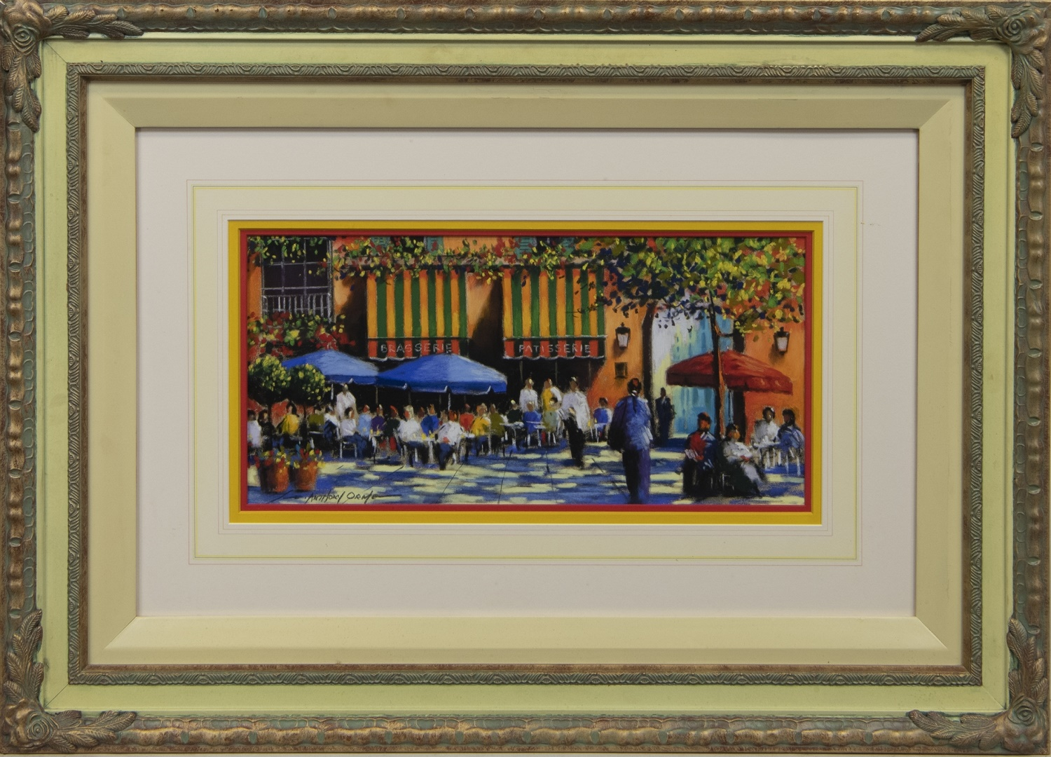 AT THE BRASSERIE, A PASTEL BY ANTHONY ORME