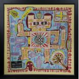 THE BRITISH MUSEUM - A PERSONAL MAP, A SILK SCARF BY GRAYSON PERRY