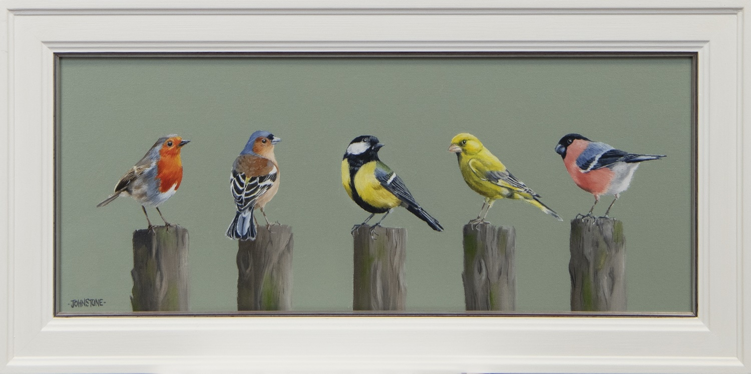 DISTANCED CHAT, AN OIL BY LYNNE JOHNSTONE