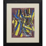 BLUE-YELLOW, A PASTEL AND ACRYLIC BY WILLIAM GEAR