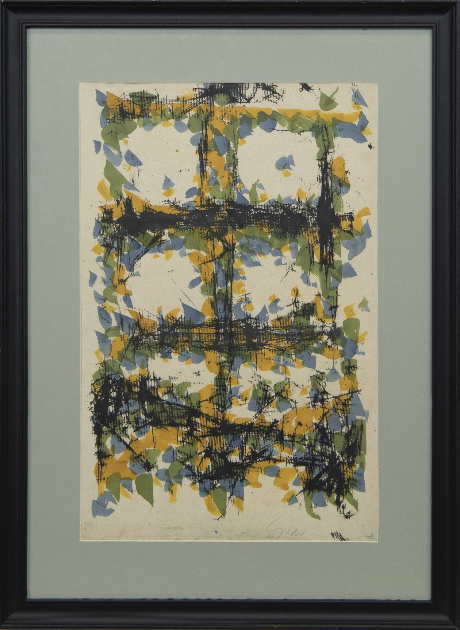 AN UNTITLED MONOTYPE BY WILLIAM GEAR