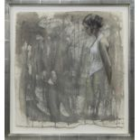 STUDY FOR READY AND WAITING, A MIXED MEDIA BY DENISE FINDLAY
