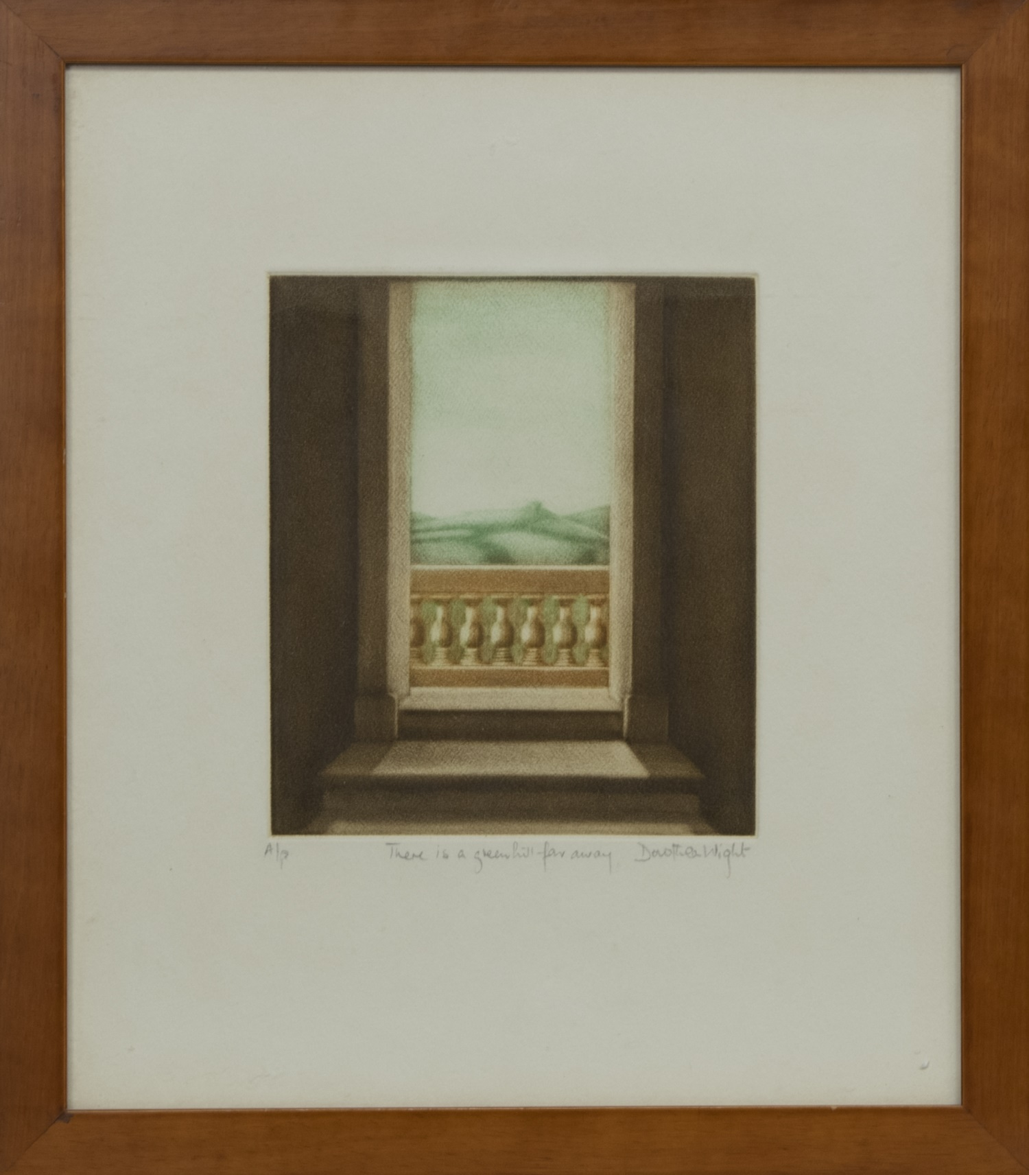 THERE IS A GREEN HILL FAR AWAY, A MEZZOTINT BY DOROTHEA WIGHT