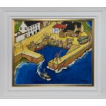 LEAVING CRAIL (EASK NEUK HARBOUR), AN OIL BY IAIN CARBY
