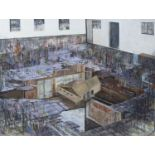 DISLOCATION, AN OIL AND CHARCOAL BY ROSS BROWN