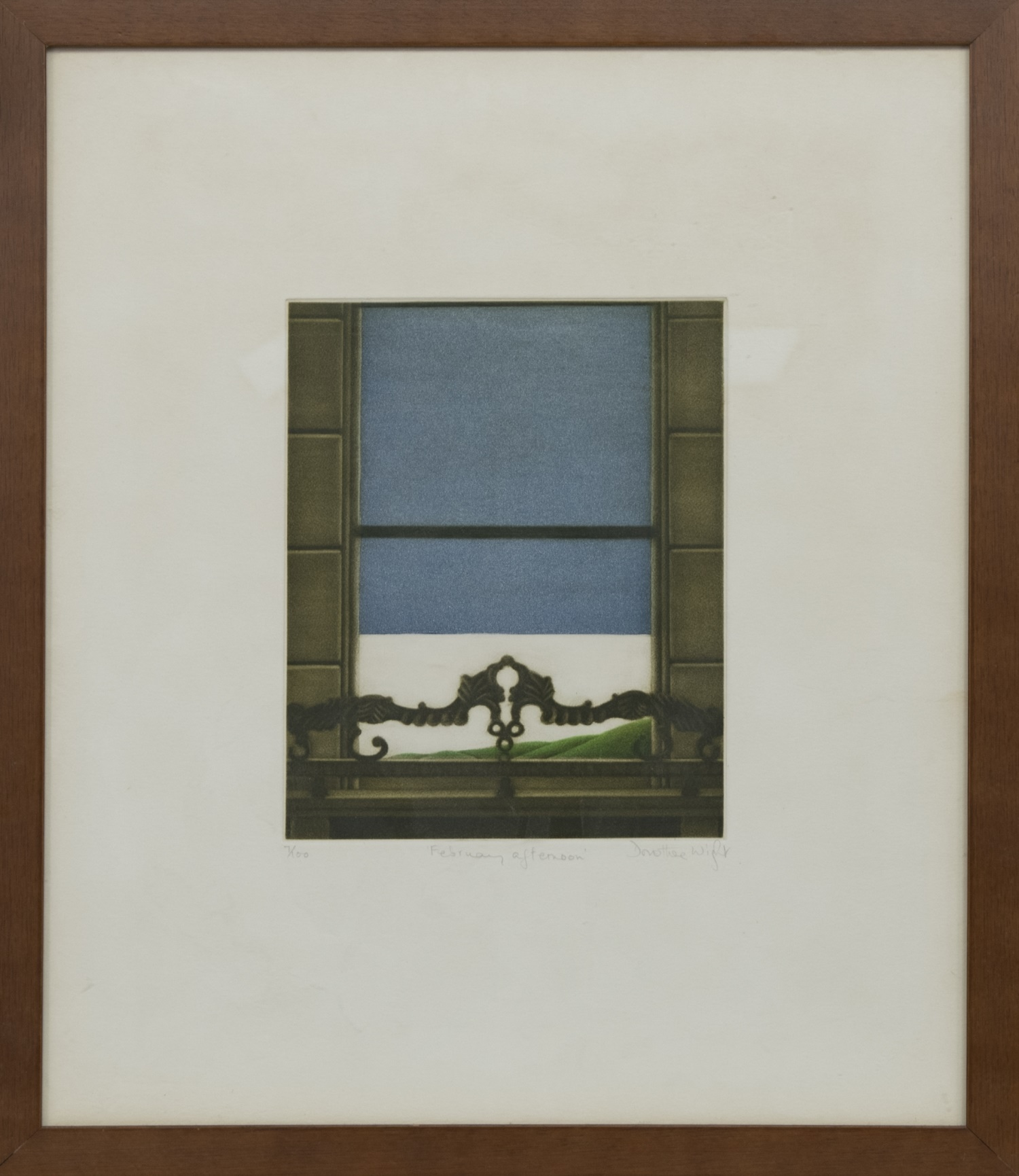 FEBRUARY AFTERNOON, A MEZZOTINT BY DOROTHEA WIGHT