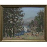 RIVER FALLS, AN OIL BY WILLIAM WRIGHT CAMPBELL