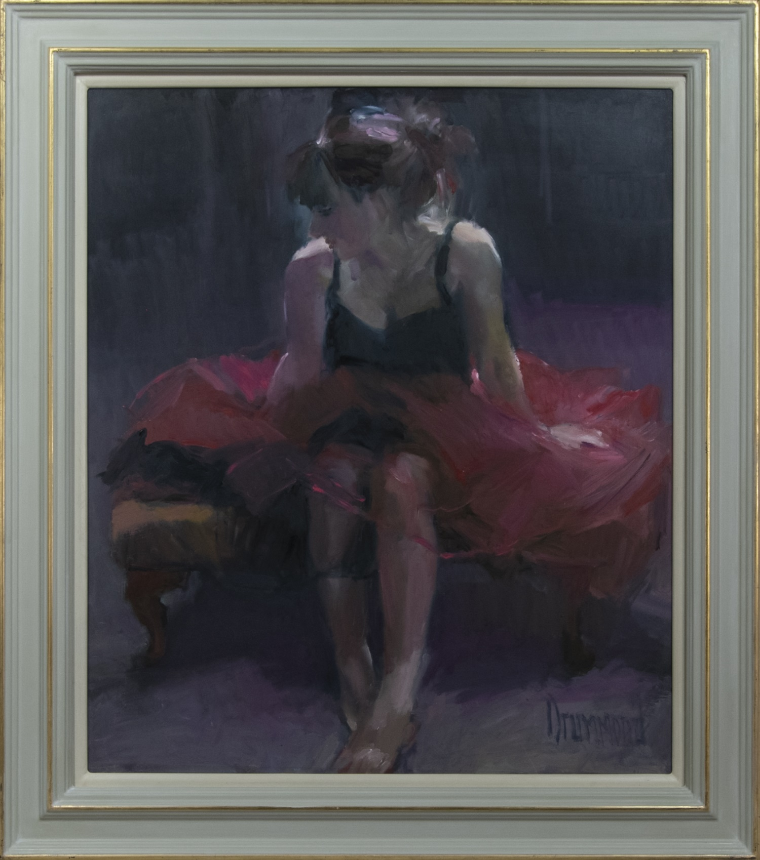 AFTER THE DANCE, AN OIL BY MARION DRUMMOND