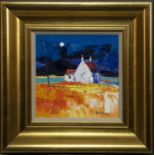MOON OVER CNOC-CUIL PHAIL, IONA, AN OIL BY JOLOMO