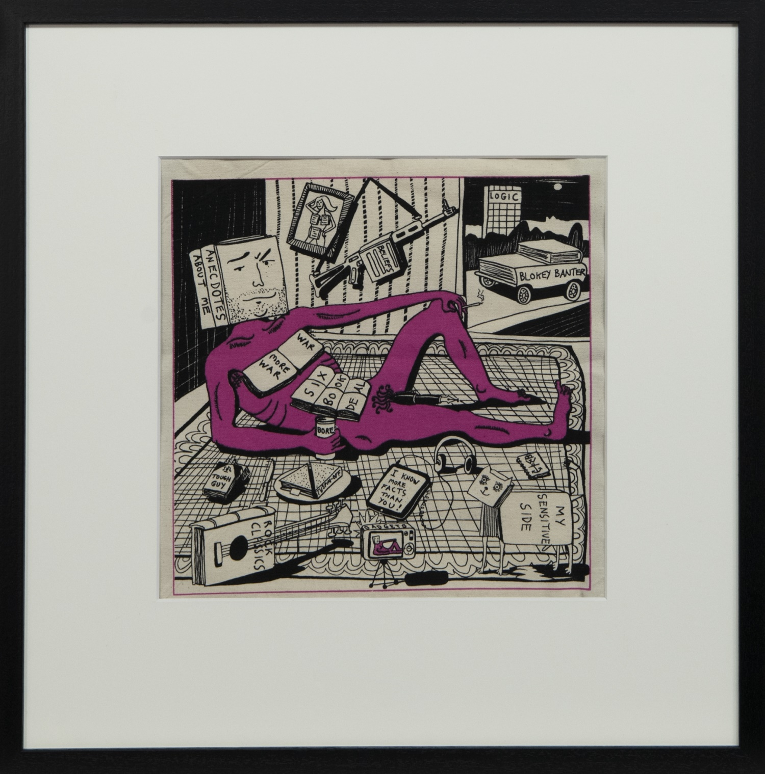 BOOKS ARE MY BAG, A PRINT BY GRAYSON PERRY
