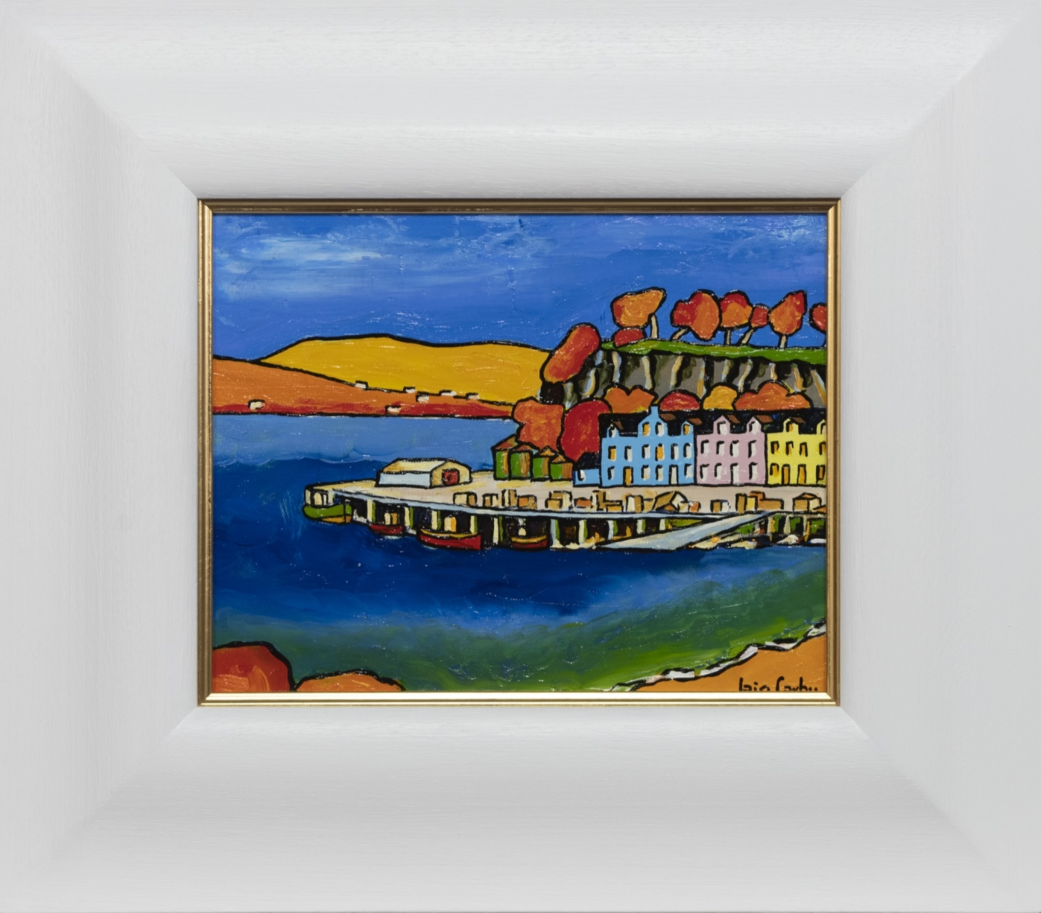 AUTUMN IN PORT RIGH, AN OIL BY IAIN CARBY