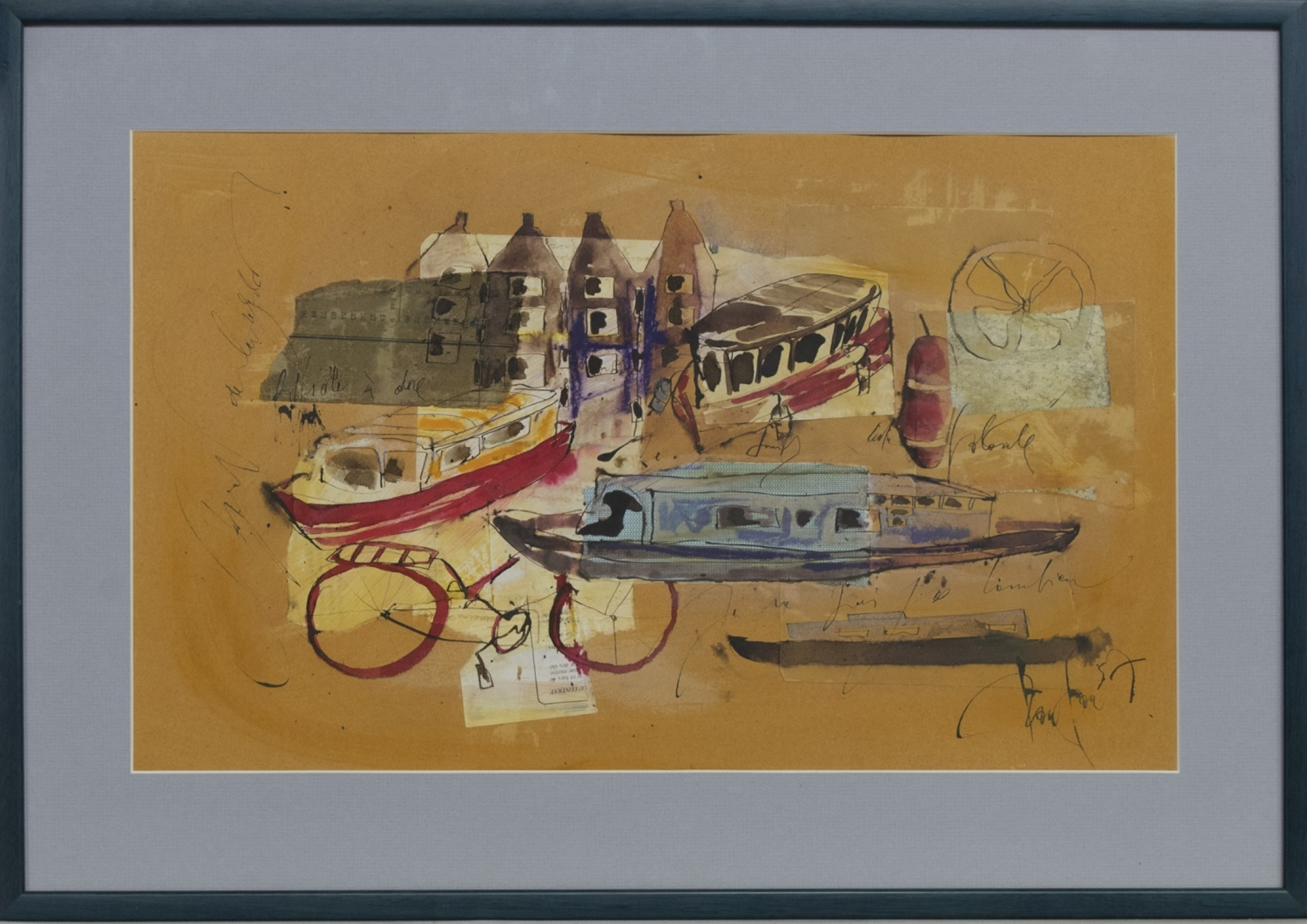 BATEAUX, A MIXED MEDIA BY CECILE COLOMBO