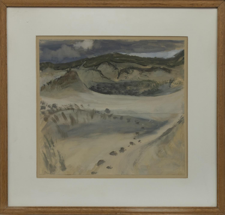 SAND DUNES NEAR MORAR, A GOUACHE BY FLORENCE JAMIESON