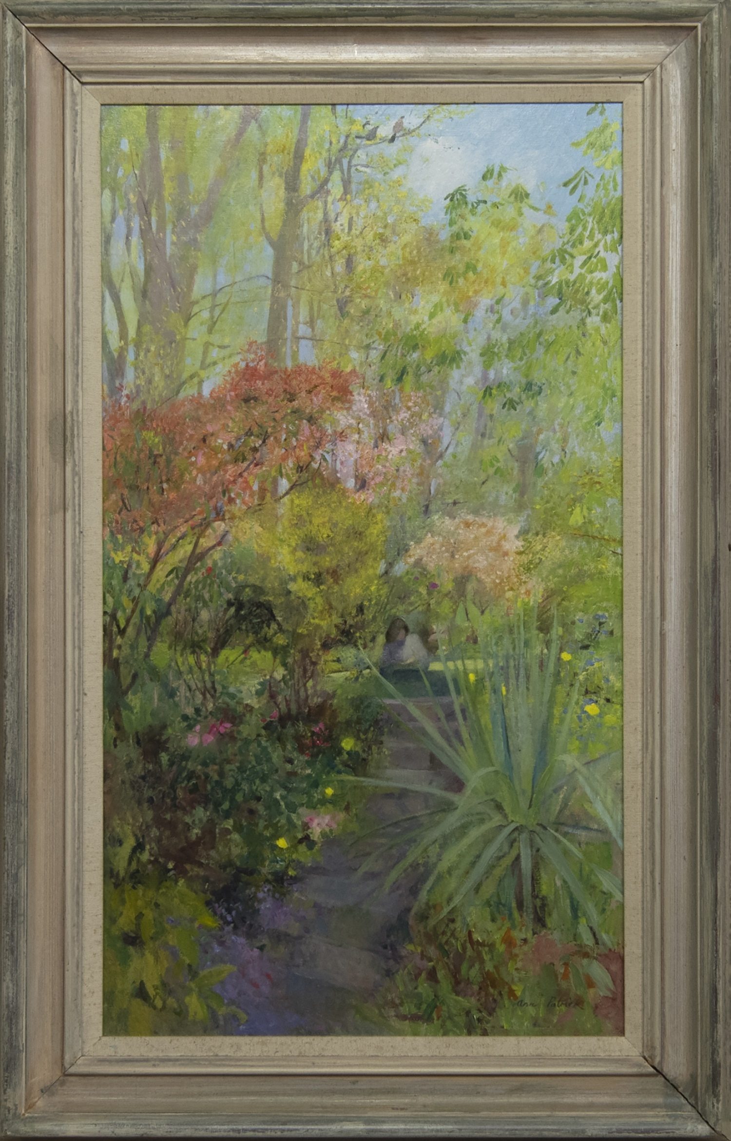 IN THE SPRING TIME, AN OIL BY ANN PATRICK